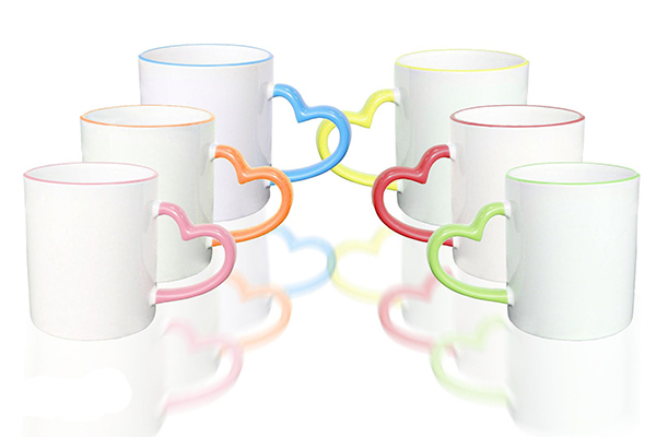 mugs hearts color